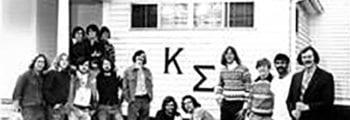 Forty members of Sigma Mu Sigma initiated as charter members of Lambda-Lambda Chapter of Kappa Sigma.