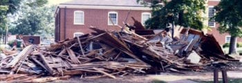 Practice House Demolished and Chapter Moves to Chandler Hall